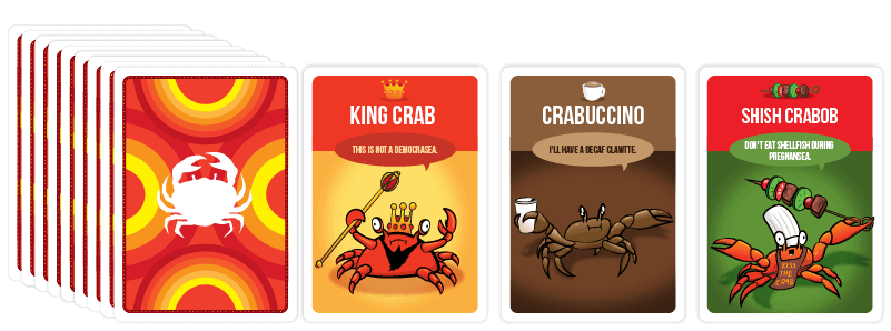 You've Got Crabs Card Samples