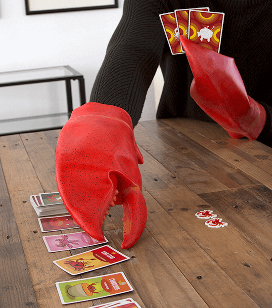 Grabbing Cards with Imitation Crab Claws