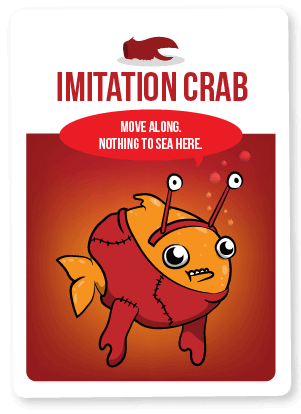 Imitation Crab Card